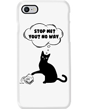 Black cat No way to stop me Phone Case i-phone-7-case