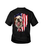 Bulldog Behind Flag Youth T-Shirt thumbnail
