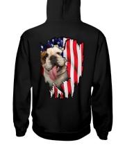 Bulldog Behind Flag Hooded Sweatshirt thumbnail