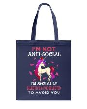 Unicorn Not Anti Social Tote Bag thumbnail