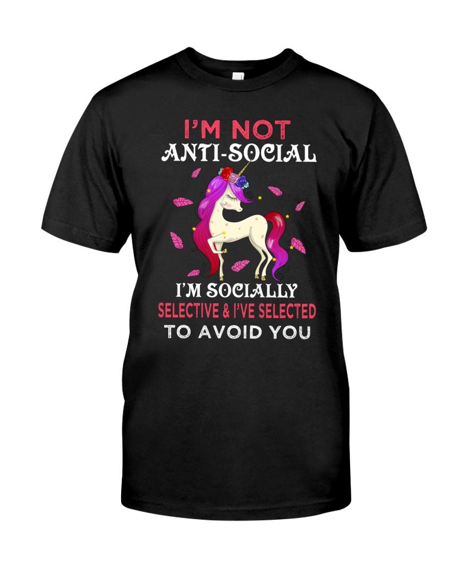 Unicorn Not Anti Social Classic T-Shirt