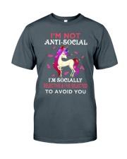 Unicorn Not Anti Social Classic T-Shirt tile