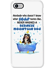 Bernese Mountain Dog and Soap Phone Case thumbnail