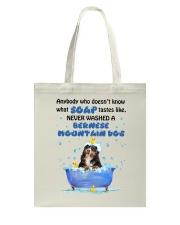 Bernese Mountain Dog and Soap Tote Bag thumbnail