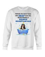 Bernese Mountain Dog and Soap Crewneck Sweatshirt front