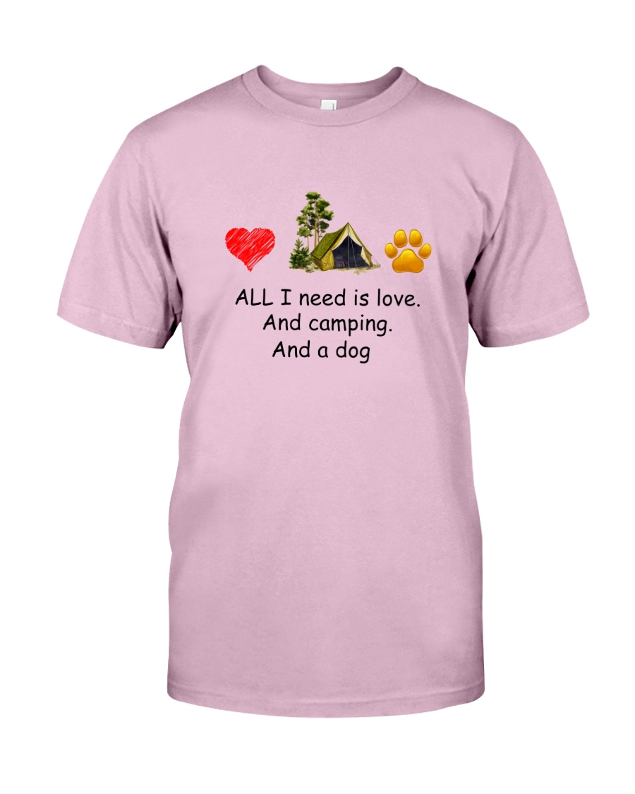 Dog - Love Camping Classic T-Shirt