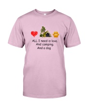 Dog - Love Camping Classic T-Shirt front