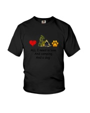 Dog - Love Camping Youth T-Shirt tile