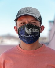 Back The Blue Peace Love T827 Cloth face mask aos-face-mask-lifestyle-06