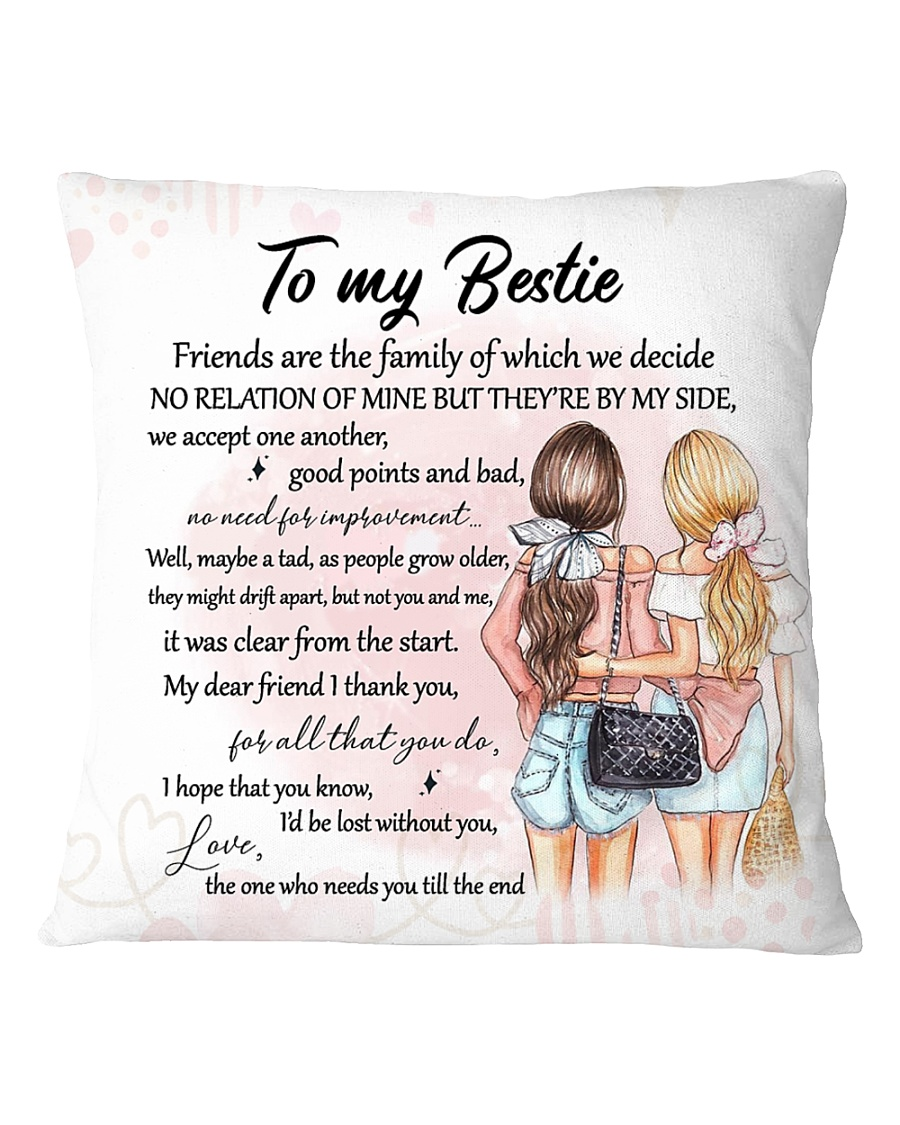 Family - To my bestie - By my side Square Pillowcase