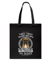 3 Things Boxer Tote Bag thumbnail