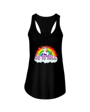 Unicorn - Go to hell Ladies Flowy Tank front