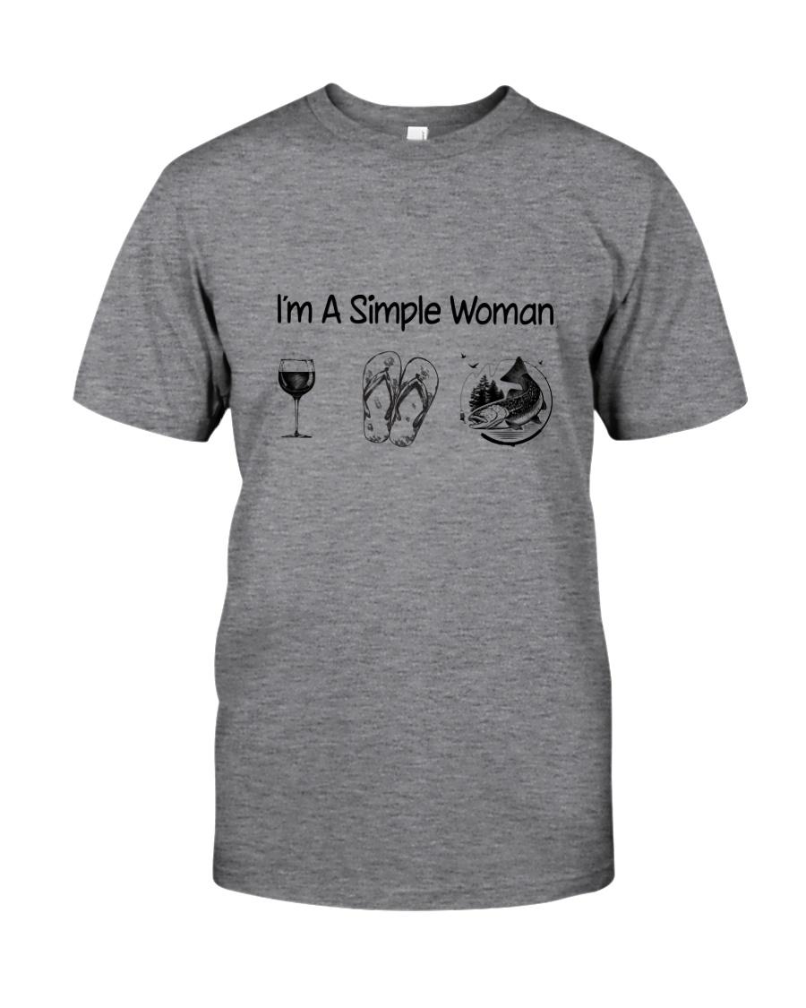Simple Woman Fishing Classic T-Shirt