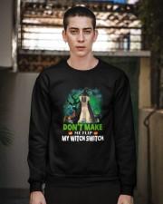 Caucasian Shepherd Dog Witch Crewneck Sweatshirt apparel-crewneck-sweatshirt-lifestyle-02