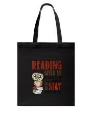 Owl Reading Tote Bag thumbnail