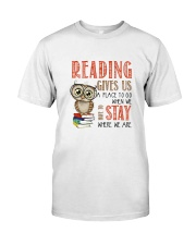 Owl Reading Classic T-Shirt front