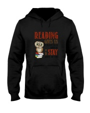 Owl Reading Hooded Sweatshirt thumbnail