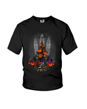 Manchester Terrier Halloween tree Youth T-Shirt tile