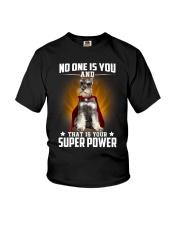 Miniature Schnauzer Super Power Youth T-Shirt thumbnail