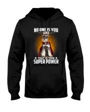 Miniature Schnauzer Super Power Hooded Sweatshirt thumbnail