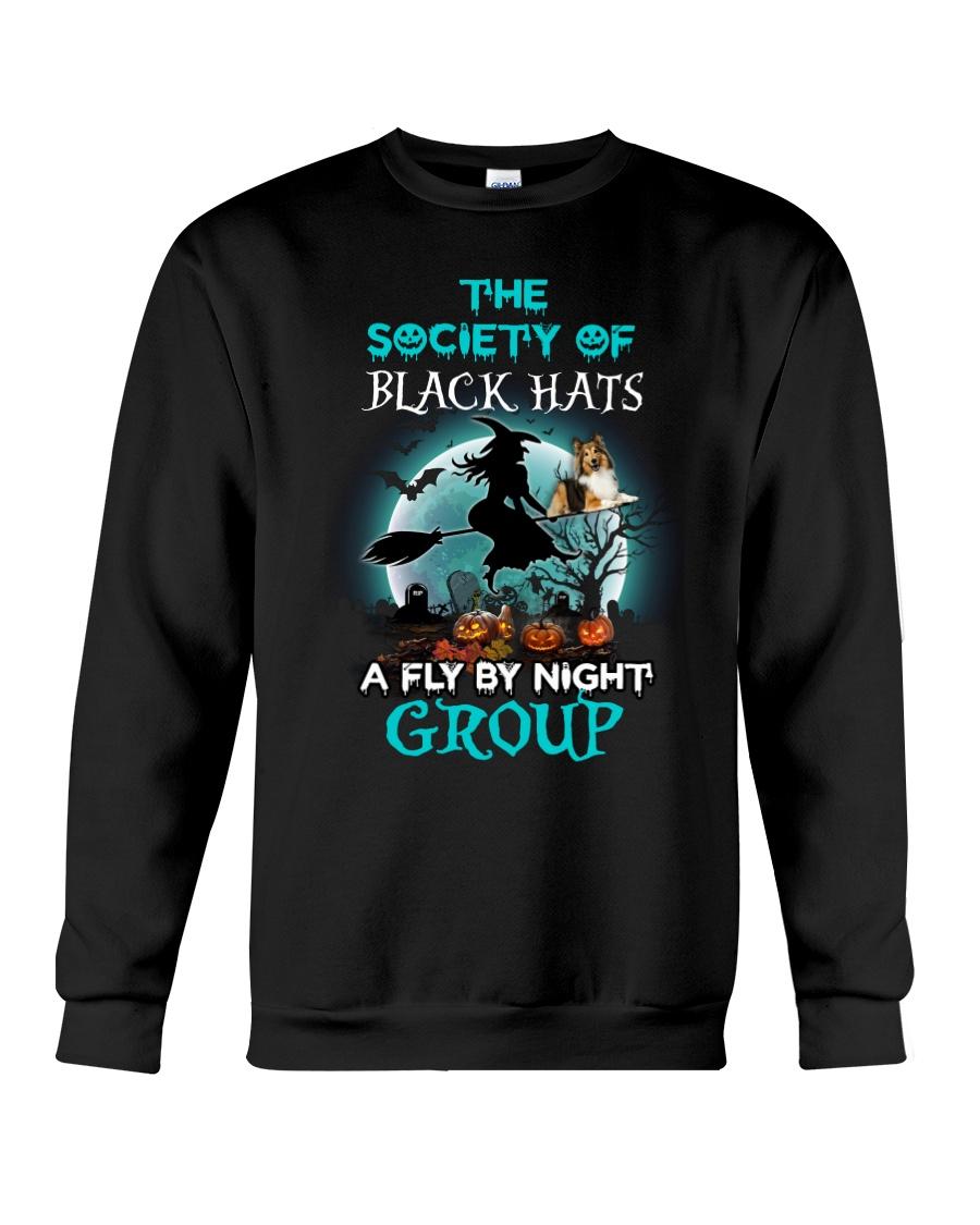 Shetland Sheepdog Fly By Night Crewneck Sweatshirt