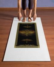 Dragonfly Mandala T5TF Yoga Mat 24x70 (vertical) aos-yoga-mat-lifestyle-26