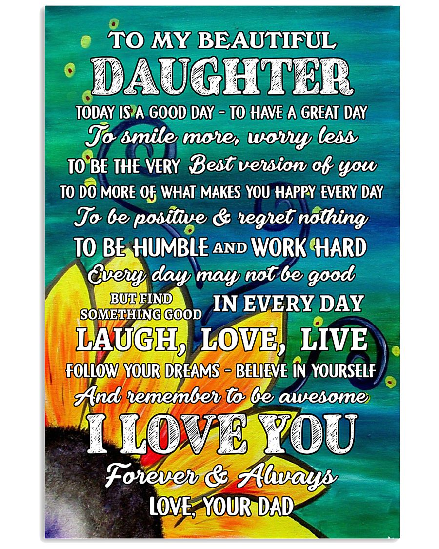 Family - Dad To My Daughter 11x17 Poster