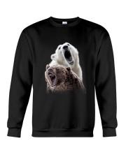 Polar Bear And Brown Bear Crewneck Sweatshirt thumbnail