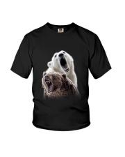 Polar Bear And Brown Bear Youth T-Shirt thumbnail