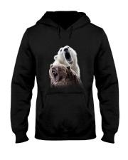 Polar Bear And Brown Bear Hooded Sweatshirt thumbnail