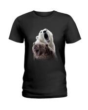 Polar Bear And Brown Bear Ladies T-Shirt thumbnail