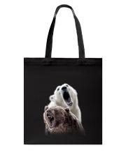 Polar Bear And Brown Bear Tote Bag thumbnail