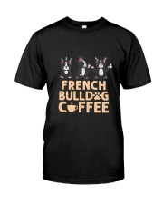 FRENCH BULLDOG COFFEE Classic T-Shirt front