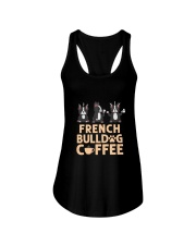 FRENCH BULLDOG COFFEE Ladies Flowy Tank thumbnail