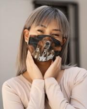 Awesome Basset Hound G82746 Cloth face mask aos-face-mask-lifestyle-17