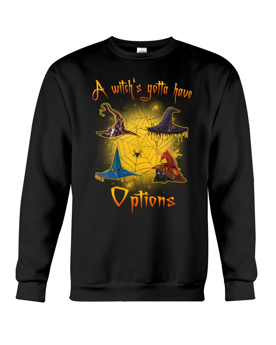 Black cat - Options of a witch Crewneck Sweatshirt