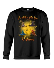 Black cat - Options of a witch Crewneck Sweatshirt front