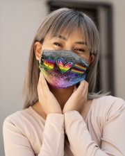 LGBT Peace Love T827 Cloth face mask aos-face-mask-lifestyle-17