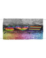 LGBT Peace Love T827 Cloth face mask front
