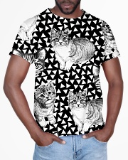 Cat Black And White T5TS All-over T-Shirt aos-all-over-T-shirt-lifestyle-front-03