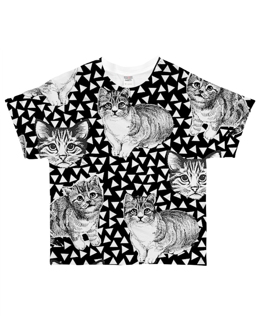 Cat Black And White T5TS All-over T-Shirt