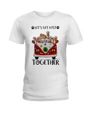 Goldendoodle Let's get lost together Ladies T-Shirt thumbnail