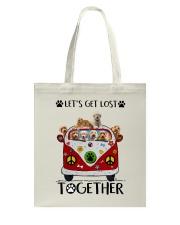Goldendoodle Let's get lost together Tote Bag thumbnail