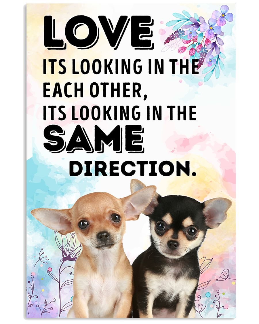 Chihuahua Same Direction 11x17 Poster