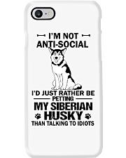 Siberian Husky Anti-social Phone Case thumbnail