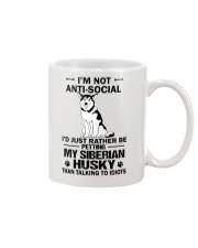 Siberian Husky Anti-social Mug thumbnail