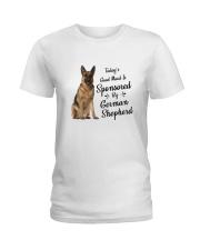 Sponsored By German Shepherd Ladies T-Shirt thumbnail