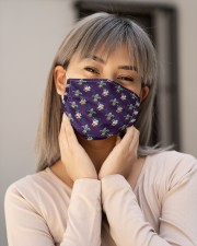 Louisiana Fleur De Lis Mardi H30735 Cloth face mask aos-face-mask-lifestyle-17