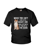 Shiba Inu Will Sit With You Youth T-Shirt thumbnail