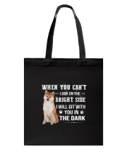 Shiba Inu Will Sit With You Tote Bag thumbnail